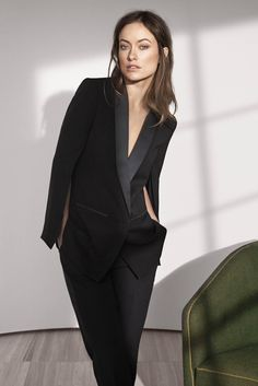 HM Conscious Exclusive Sustainable Fashion Olivia Wilde Blazer in organic silk