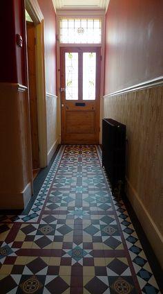 victorian edwardian mosaic tile path hall way clapham balham battersea fulham chelsea london Tiled Floors, Flooring, Chelsea London, London Garden, Fulham, Rest Of The World, Hallways, Mosaic Tiles, Entrance