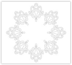 zentangle curls circle free hand embroidery pattern