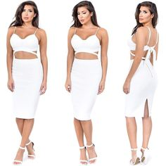 How cute is this set?! Get the look at emprada.com  Search 'Elle White Set'