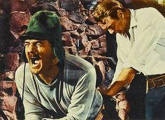 """Karl Malden y Gary Cooper en """"El árbol del ahorcado"""", 1959"""