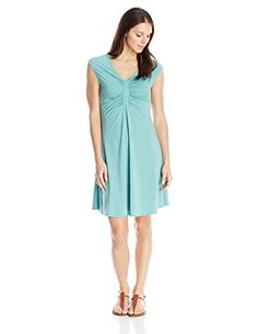 ModODoc Womens Shirred Inset Dress Agean Large >>> Find out more about the great product at the image link.