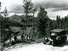 ~Grand Lake Road in Kawuneeche Valley~ ca.1922 A breath of fresh Colorado air!! Courtesy of the Rocky Mountain National Park Library