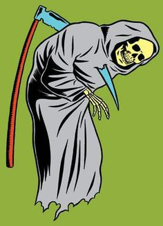 Spot Illustration for the cover of 'The Postmortal' by Drew Magary, Penguin Books US. illo by kristian hammerstad Don't Fear The Reaper, Grim Reaper, Graphic Design Illustration, Illustration Art, Drawing Commissions, Pop Art, Club Poster, Arte Obscura, How To Make Comics