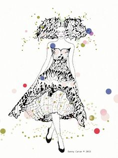 Alexander McQueen, Fashion Illustration Original, Woman, Fashion Figure, Fashionista, Danny Caran, Original Illustration, Ink Drawing