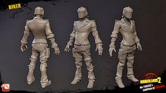 Modeling and texturing - Outsourcing for Shadows in Darkness / Gearbox Software 2012 Character Turnaround, Borderlands 2, Zbrush, Darkness, Shadows, Sculpting, Modeling, Software, Batman