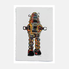 Robot Rob 8x10, $34, now featured on Fab.
