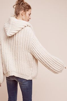 Hooded & Cabled Cardigan