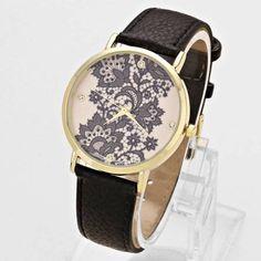 Fashion Trendy Gold Watch Lace Designn Black Bracelet Accessories Online Jewelry | eBay