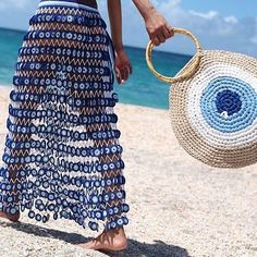 Fabulous Crochet a Little Black Crochet Dress Ideas. Georgeous Crochet a Little Black Crochet Dress Ideas. Love Crochet, Bead Crochet, Beautiful Crochet, Crochet Skirts, Crochet Clothes, Mode Du Bikini, Crochet Shell Stitch, Crochet Handbags, Crochet Bags