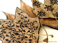 Painted Leaves Más