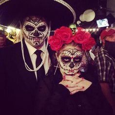 Our Day of the Dead costume.