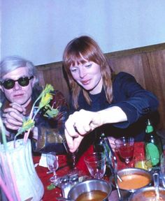 #AndyWarhol and #Nico at Max's in 1968. Photo by Billy Name