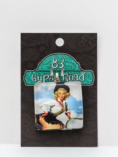 MS 54  Glass Pendant  Cowgirl Pinup by 83GypsyRoad on Etsy