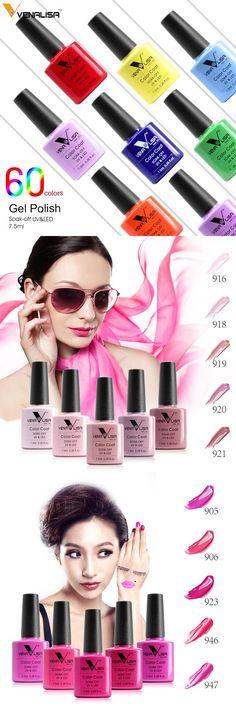 [Visit to Buy] VENALISA Organic Odorless Gel Varnish 60 Color 7.5ml CANNI Nail Art Design 61508 French Tip Manicure Soak off UV Gel Nail Polish #Advertisement