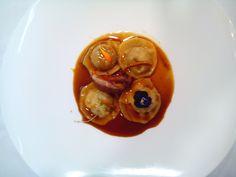Faisán: Raviolis de Faisán en salsa de Pomelo Rosa