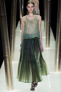 Armani Privé Spring 2015 Couture Fashion Show - Kristina Petrosiute