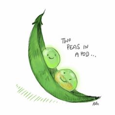 """My friend just got engaged and I am so happy for her! This is for them: """"two peas in a pod"""" Congrats guy's! #twopeasinapod #cute #engagement #pictoftheday #digitaldrawing #doodle #doodles #doodlesofinstagram #illustration #drawing #happy"""