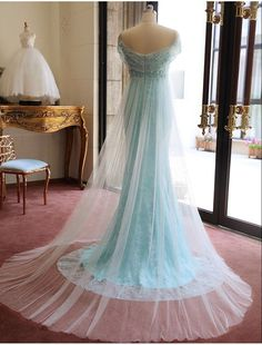 2017 Custom Charming Blue Lace Prom Dress, Sexy Off the Shoulder Evening Dress,Sexy Backless Prom Dress