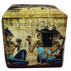 Found it at Wayfair - Egyptian Papyrus Art Ottoman