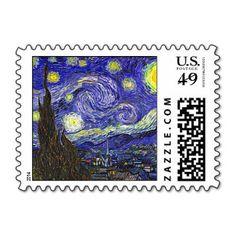 Starry Night Postage - Zazzle