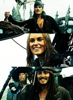 Pirates of the Caribbean Will Turner, Elizabeth Swann and Jack Sparrow