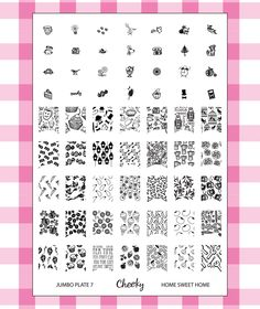 Nail Art Jumbo Stamp Stamping Manicure Image Plate 7 Home Sweet Home by Cheeky® : Nail Decorations : Beauty