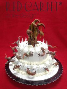 HALLOWEEN HORROR WEDDING CAKE-OLIVIA 40- by Red Carpet Cake Design®