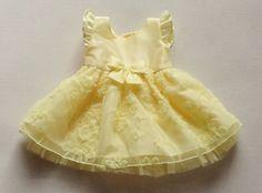 2015 schattige pasgeboren meisje prinses jurk strik riem feestavond jurk kinderen baby doop jurk meisjes verjaardag jurken geel