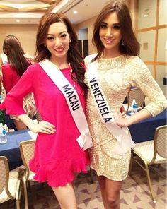 Macau y Venezuela dos Candidatas al Miss International 2015, en las Actividades del Concurso..