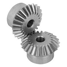 Engrenage conique en acier, denture droite fraisée / Bevel gears in steel,  straight teeth - 22430