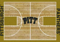 Pittsburg Panthers - College Home Court Rug