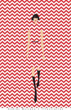 Illustration Files: Fashion Textures by Andrés Quijano Illustration Sketches, Graphic Illustration, Illustrations Posters, Graphic Art, Fashion Illustrations, Kunst Inspo, Motif Art Deco, Poster S, Mode Style