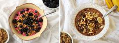 Raspberry Mango // PB & Chocolate Smoothie Bowls | ilovevegan.com