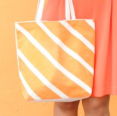 Orange Crush Taped Tote | iLoveToCreate