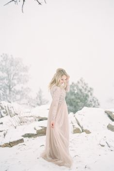 winter engagement sessions - photo by Sara Lynn Fine Art Photography http://ruffledblog.com/foggy-enchanted-forest-engagement-session