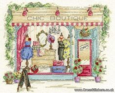 Chic Boutique -  Vintage Chic Cross Stitch Kit by Maria Diaz - DMC