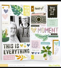 Use up your stickers & chipboard stickers!