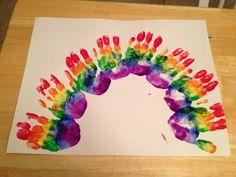 Child rainbow hand prints :)