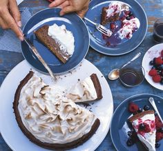S'mores Cheesecake with Summer Berries - Bon Appétit