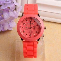 Fashion geneva women dress watches high quality analog quartz watch multicolor women casual wristwatch