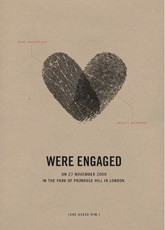 engagement announcements  --- could use the thumbprints for valentines cards or other stationary... cute