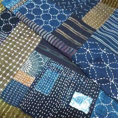 #刺し子#刺し子ステッチ#手縫い#針仕事#ハンドメイド#はんとめいど#襤褸#ぼろ#つぎはぎ #ツギハギ Sashiko Embroidery, Japanese Embroidery, Embroidery Applique, Embroidery Stitches, Japanese Textiles, Japanese Fabric, Boro Stitching, Scrap Busters, Make Do And Mend