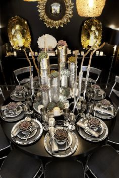 Michael Aram table designed for Geoffrey Zakarian at @DIFFA National National National National Dinning by Design event