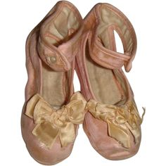 Delightful pair of pink silk shoes for large doll from mychoice on Ruby Lane