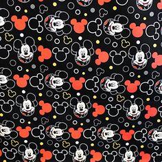 "Disney Mickey Mouse Head 100% Cotton Print Fabric, 45"" Inches Wide - Sold By The Yard (FB) Disney http://www.amazon.com/dp/B00YTUVS08/ref=cm_sw_r_pi_dp_eGQVwb0G53163"