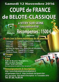 affiche Coupe de France de Belote Classique Individuel