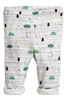 Pile-lined sweatpants: Trousers in patterned sweatshirt fabric with an elasticated waist and soft pile inside. Gender Neutral Baby, H&m Online, Boy Fashion, Long Sleeve Tops, Fashion Online, Trousers, Sweatpants, Sweatshirts, Fabric