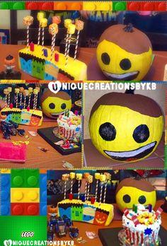Lego  birthday party  cake cake pops