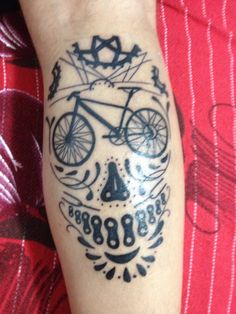 Tatoo bike skull